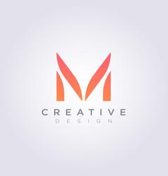 Letter m design clipart symbol logo template vector
