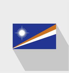 Marshall islands flag long shadow design vector