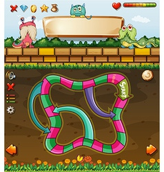 Maze game and monster vector image
