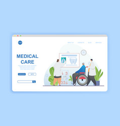medical care concept with doctors reviewing x-rays vector image