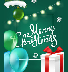 merry christmas greetings greeting card vector image