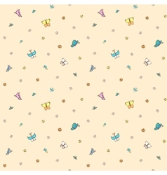 Multicolored butterflies on pale pink background vector