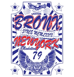 New york Vintage Slogan Man T shirt Graphic Design vector