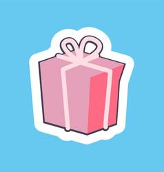 Nice pink gift box banner vector