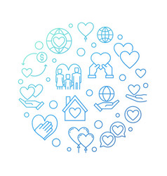 Nonprofit organization circular blue vector