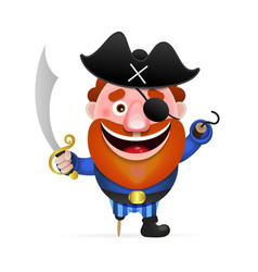 Old pirate with a wooden leg vector