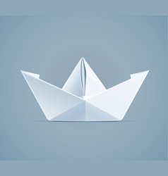 paper origami ship handmade vector image