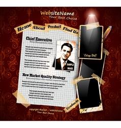 Photo book vintage vector