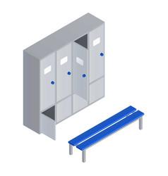Pool locker room icon isometric style vector