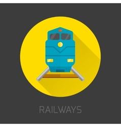 Railway Flat Icon vector image