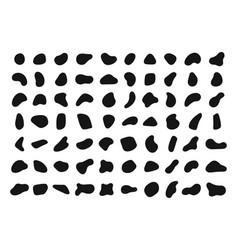 Random shapes black blobs round abstract organic vector