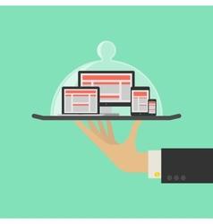 Responsive Web Design Service Concept vector image