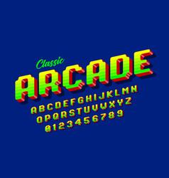 retro style arcade games font vector image
