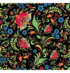russian floral ornament vector image