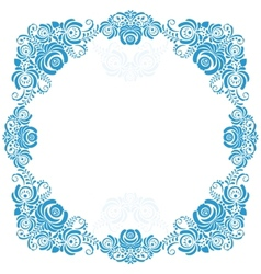Russian ornaments art frames in gzhel style Gzhel vector image