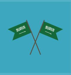 Saudi arabia flag icon in flat design vector