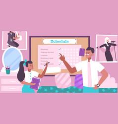 Schedule for kid flat background vector