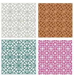 seamless line pattern in modern korean style vector image