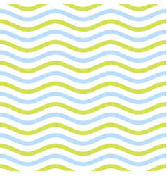 Seamless zigzag pattern of blue and yellow watery vector