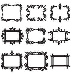 set of decorative horizontal elements border and vector image