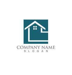 Simple house home real estate logo icons vector
