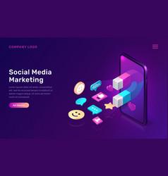 social media marketing viral mms isometric vector image