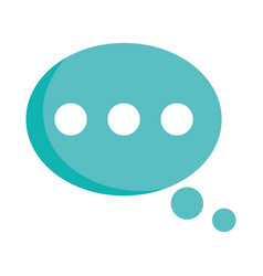 speech bubble message chat isolated icon design vector image