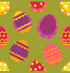 spring easter seamless pattern with vector image