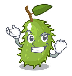 successful character ripe soursop fruits for juice vector image