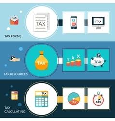 Tax Banner Set vector