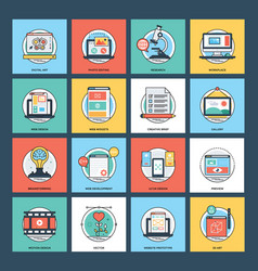 technical pack of web development vector image