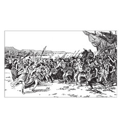 The victors of salamis by fernand cormon a vector