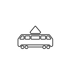tram icon black on white vector image