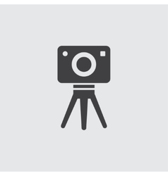 Tripod camera icon vector image