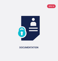 Two color documentation icon from gdpr concept vector