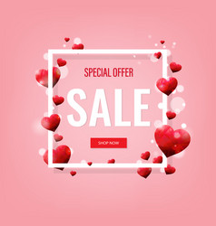 valentines day sale poster vector image