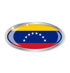 Venezuela flag oval button vector