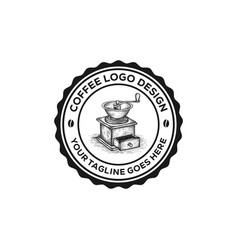 vintage coffee logo emblem vector image