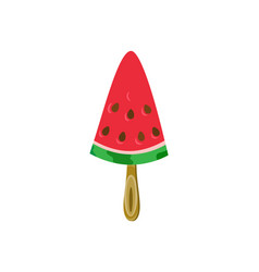 watermelon on wooden stick exotic food cream vector image