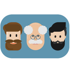 with bearded and old men vector image