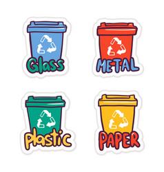 zero waste flat round banner template vector image