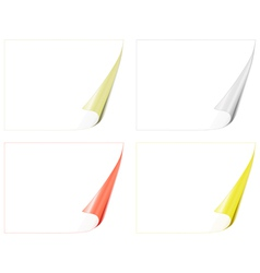 bent paper pages vector image vector image