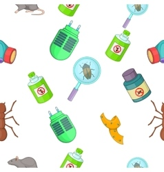 Harmful insects pattern cartoon style vector