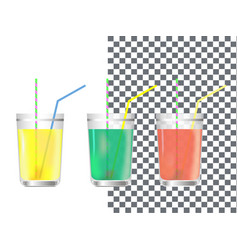 realistic glass of juice vector image