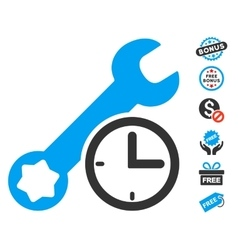 Service Time Icon With Free Bonus vector image vector image