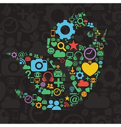 Social networking icons vector image