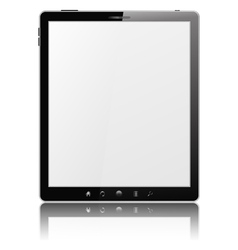 tablet pc vector image vector image