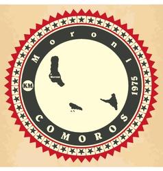 Vintage label-sticker cards of Comoros vector image vector image