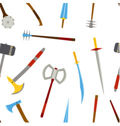 ancient melee cold weapon tool equipment pattern vector image vector image