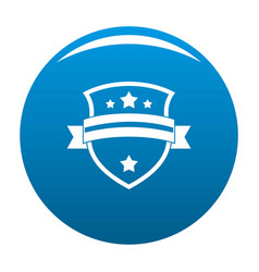 badge knight icon blue vector image vector image